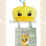 plush shopping bag/animal shape with shopping bag inside plush bag/cotton shopping bag/shopping bag with toys