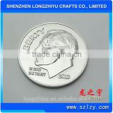 China 3D metal coin made by coin pusher machine for sale