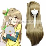 Aliexpress Anime Hairpiece Love live/Minami Kotori Long 80cm Linen Flaxen Women's Synthetic Hair Cosplay Wig