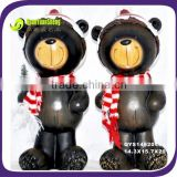 wooden colour gummy bear masha and the bear doll with scarf