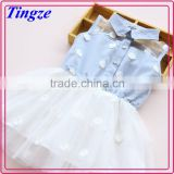 Wholesale kids new fashion frocks denim dress baby girl summer dress