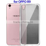 Transparent TPU Mobile Phone Cover Case for OPPO, Back Cover Case for OPPO R9, Case Cover for OPPO R9