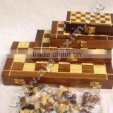 Wooden Chess Board without Drawer