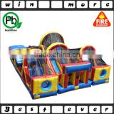 3 pieces outdoor obstacle course adult racing games, interesting giant obstacle course with nettings