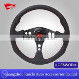 Factory direct! customized boat steering wheel with genuine leather cover