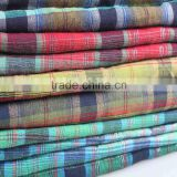 cheap twill upholstery fabric for curtain bag cotton check shirt fabric