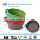 Dongguan folding silicone travel mixing noodle porcelain bowl