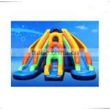 Commercial inflatable amusement park with slide, kids amusement park slide with pool, amusement park equipment