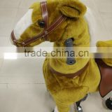 Hot sale HI EN71 kid plush mechanical ride on horse toy pony for kids