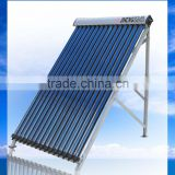 Adjustable Angle High Pressure Vacuum Tube Solar Collector 10 Tubes To 30 Tubes Solar Hot Water Systems