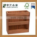 Antique custom Printing new design handmade Wooden wooden office magazine rack wooden file rack