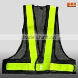 EN471 hi visibility black mesh vest with pockets