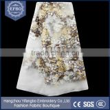 2016 hot sale african lace fabrics white high quality transparent mesh fabric wedding dress french tulle aso ebi fabrics