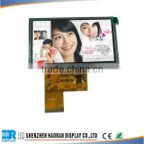 micro lcd display 4.3inch TFT LCD Module lcd panel with resistive touch screen from shenzhen factory