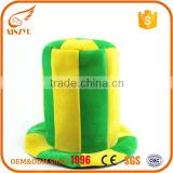 Green and yellow holiday water buffalo horn birthday party bucket hats                                                                                                         Supplier's Choice