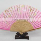 wedding gift fan ,bamboo hand fan for collection ,silk foldable bamboo hand fan with colorful butterfly