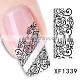 2016 New Arrival Water Transfer Nail Decals Flower Laces Style Nail Art Stickers Nail Art Accessories