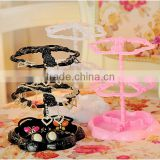 Colorful creative design flower shape plastic rack jewelry hair bow earring display rack