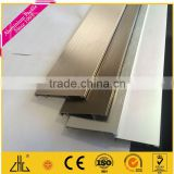 flexible high quality extruded allunimum skirting board Red walnut Wood Grain painting aluminum skirting board