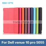 Factory Price 3 folded Crazy Horse PU Leather Magnet stand holder case cover for Dell Venue 10 pro 5055 tablet cover case