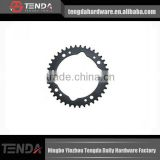 bicycle sprocket Alloy Ramped Chainrings, Black motorcycle sprocket, motorcycle chain sprocket