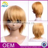 Top quality factory Guangzhou factory cosplay for DuRaRaRa!! Heiwajima Shizuo bald head wig