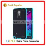 [UPO] Wholesale Hybrid Shockproof Hard Plastic Bumper PC TPU Case for Samsung Galaxy Note 4, Cell Phone Accessories