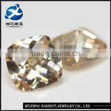 natural 13mm square checkerboard champagne synthetic diamond jewellery machine making