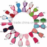 Grosgrain Hair Ribbon Bows Baby Girls Hair Accessories With Clip Boutique Bows Hairpins 18pcs/lot Free Shipping