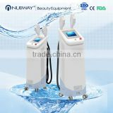 2016 laser Beauty equipment Double handles five colors opt SHR+ELIGHT+IPL 3 in 1 ipl shr hair removal machine for sale