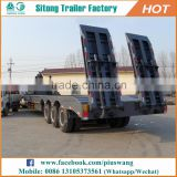 Heavy Machinery 60-100 Tons Low Loader Trailer Dimensions Tri Axle Lowboy Trailers For Sale