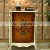 European Style Luxury Chest of Drawers, Parquet Pattern Wooden Cabinet, Living Room Cabinet with Drawers (BF01-ML044)