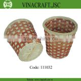 Hot sales bamboo waste basket in corlor for kitchen