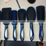 Plastic vent rubber hair brush hair comb set with logo printed