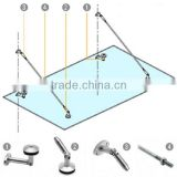 304 316 Stainless Steel glass canopy awning fittings door canopy alibaba china guangzhou