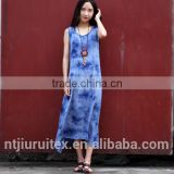 women's Tie Dye Maxi rayon Dress, summer dress