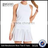 MGOO Custom Made Summer New Fashion Sports Tracksuits For Women White Sport Wear Tennis Dress