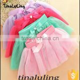 wholesale kids basic plain tutu skirts with bow on waist kids ballet tutu