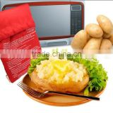 2 Pcs/Lot Oven Microwave Baked Red Potato Bag For Quick Fast( cook 8 potatoes at once ) In Just 4 Minutes Washed Potato Bags