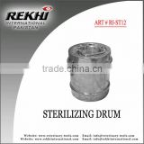 holloware Surgical sterilizing drum,Surgical instruments sterilizing drum,medical sterilizing drum stainless steel
