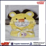 OEM service 100% cotton terry baby hooded towel