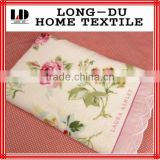 promotional good quality lovely rose pattern bath towels