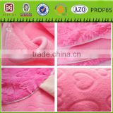 100% polyester blanket embossed fabric coral fleece tv blanket