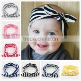 Boutique navy stripe mommy and baby headwrap , chic toddler girls knot headband M5062010