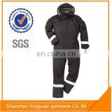 Poly/Cotton Twill freezer suit cold storage work winter coverall with reflective tapes - 40C
