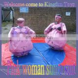 Pink women sumo wrestling costume