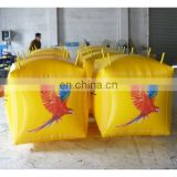 Cube buoy with digital printing logo bird logo buoy Custom floating inflatable buoys for water lake or marine event promotion