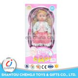 Hot sales girls toy set iron 2 in 1 baby doll pram stroller