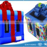 gift box inflatable bouncer for sale/inflatable gift box bouncer/inflatable gift box jumping bouncer