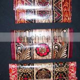 BATIK PRINT LEATHER CLUTCH BAG